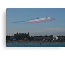 weymouth carnival Red Arrows Canvas Print