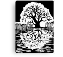 Silhouette of a tree | Mirror image  Canvas Print