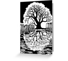 Silhouette of a tree | Mirror image  Greeting Card