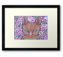 Flower Cat Framed Print