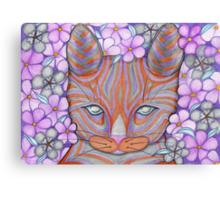 Flower Cat Canvas Print