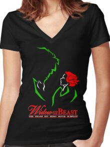 Widow and the Beast Women's Fitted V-Neck T-Shirt
