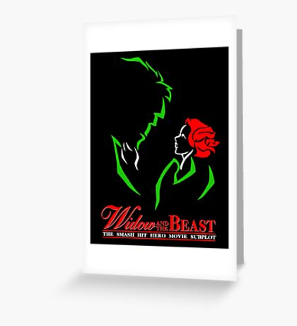 Widow and the Beast Greeting Card