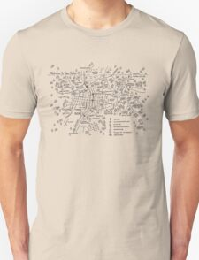 Twin Peaks (Light Background) T-Shirt