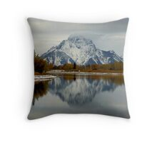 Oxbow Bend, Grand Tetons Panorama Throw Pillow
