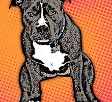 Pop Art Pitbull 2 by Aidan Wells