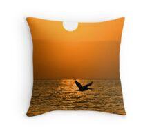 Ocean Silhouette Throw Pillow