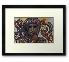 A Little Bird Told Me (Self-Portrait with Celtic Hair) Framed Print