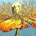 Blue poppy. Oil on canvas 2012Ⓒ 122x41cm. SOLD by Elizabeth Moore Golding