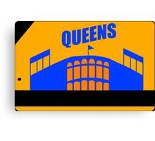 Queens Subway Card Canvas Print