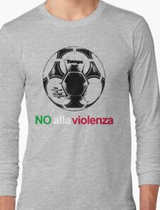 A Casual Classic iconic No Alla Violenza inspired t-shirt design Long Sleeve T-Shirt