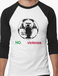 A Casual Classic iconic No Alla Violenza inspired t-shirt design Men's Baseball ¾ T-Shirt