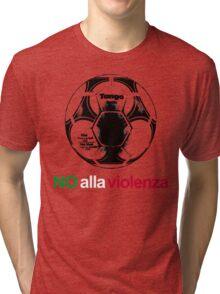 A Casual Classic iconic No Alla Violenza inspired t-shirt design Tri-blend T-Shirt