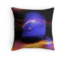 floating helmet... abstract seascape Throw Pillow