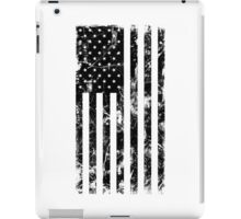 American Flag - Distressed (Black) iPad Case/Skin