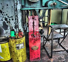 A  glimpse through the window of a Fairbairn steam crane. by Clive Lewis-Hopkins.
