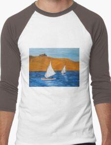 On the Nile with Egyptian fellucas Men's Baseball ¾ T-Shirt