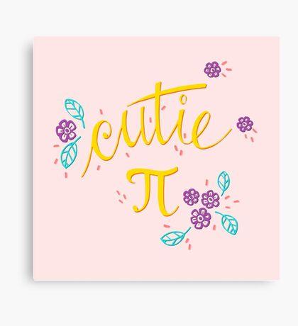 Cutie Pi (Pink) Canvas Print