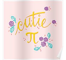 Cutie Pi (Pink) Poster