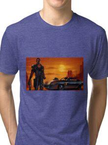 Mad Max and the V8 Interceptor Tri-blend T-Shirt