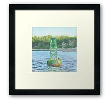 #13 Navigation Buoy Framed Print