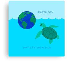 Earth Day Sea Turtle Canvas Print