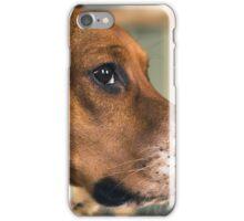 Courage the Beagle Portrait - 1 iPhone Case/Skin