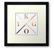KYGO Shirt White Framed Print