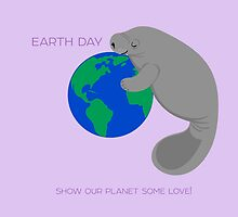 Earth Day Manatee by PepomintNarwhal