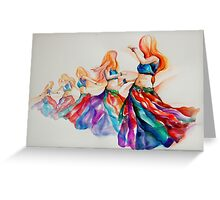 belly dancer in motion Greeting Card