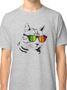 Cool Cat Mirror Rainbow Shades.  Classic T-Shirt