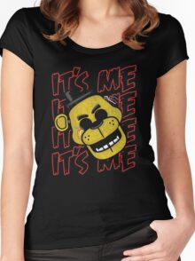 Five Nights At Freddy's It's Me Golden Freddy Women's Fitted Scoop T-Shirt
