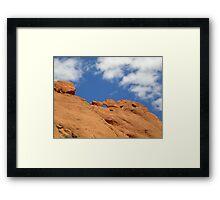 Kissing Camels Framed Print