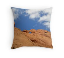 Kissing Camels Throw Pillow