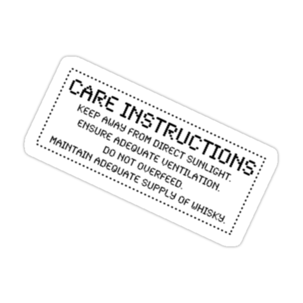 Care Instructions - Whisky by Ron Marton