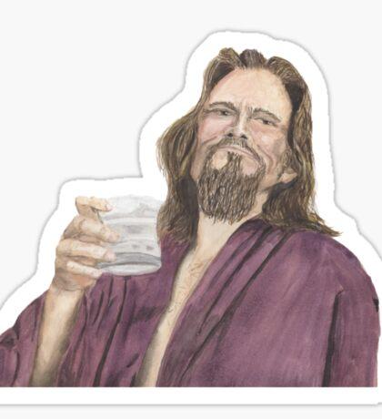 """Jeffrey """"the Dude"""" Lebowski Sticker"""