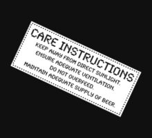 Care Instructions - Beer by Ron Marton