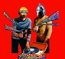 Spock and Kirk Beam Up a Record Player and Shoot Phasers Set on Stun by zandozan