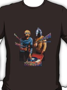 Spock and Kirk Beam Up a Record Player and Shoot Phasers Set on Stun T-Shirt