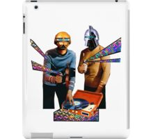 Spock and Kirk Beam Up a Record Player and Shoot Phasers Set on Stun iPad Case/Skin