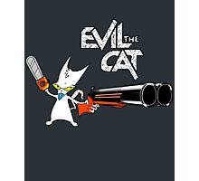 EVIL CAT Photographic Print