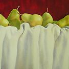 Pretty Pears All In A Row by Fiona  Lee