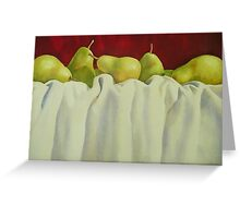 Pretty Pears All In A Row Greeting Card