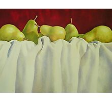 Pretty Pears All In A Row Photographic Print