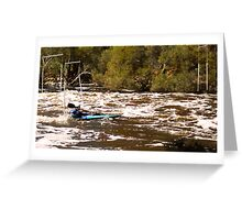 Shooting the Rapids Greeting Card