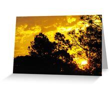Suburban sunset Greeting Card