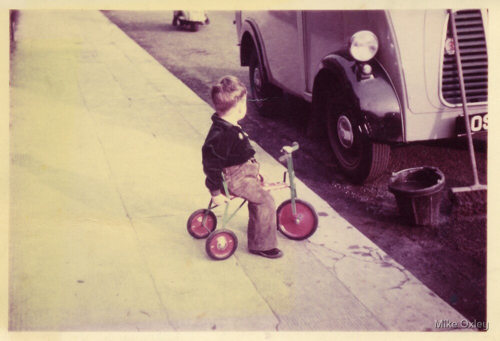 Budding Car Thief? Circa 1956 by Mike Oxley