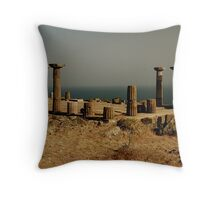 Assos Acropolis, Turkey Throw Pillow