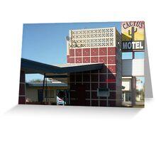 Cactus Motel Greeting Card