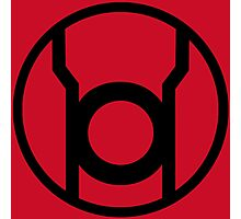 Red Lantern Corps Symbol - Reversed Photographic Print